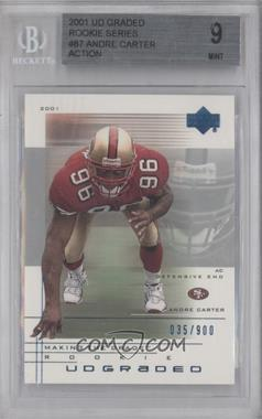 2001 UD Graded #87.1 - Andre Carter /900 [BGS9]