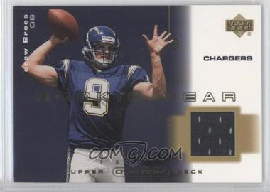 2001 Upper Deck Ovation - Rookie Gear #R-DB - Drew Brees