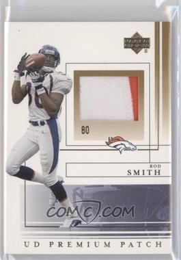 2001 Upper Deck Premium Patch #SS-PP - Rod Smith