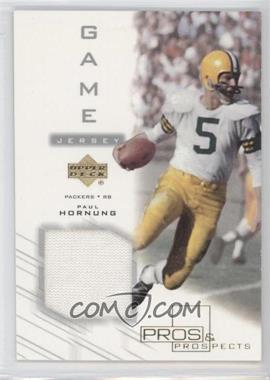 2001 Upper Deck Pros & Prospects - Game Jersey #PH-J - Paul Hornung