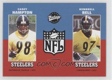 2001 Upper Deck Vintage #272 - Casey Hampton, Kendrell Bell