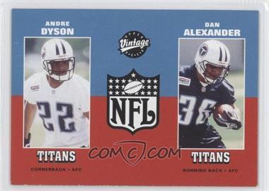 2001 Upper Deck Vintage #279 - Andre Dyson, Dan Alexander