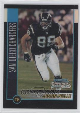 2002 Bowman Chrome Refractor #172 - Justin Peelle /500