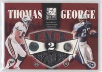 Zach Thomas, Eddie George /350