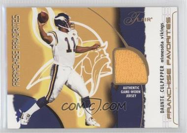 2002 Flair - Franchise Favorites - Jerseys [Memorabilia] #DACU - Daunte Culpepper