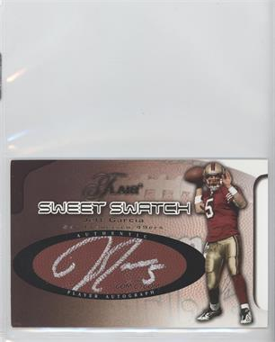 2002 Flair - Sweet Swatch Autographs - Gold #JGA - Jeff Garcia /50
