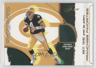 2002 Flair Franchise Favorites Jerseys [Memorabilia] #BRFA - Brett Favre