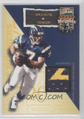 2002 Flair Jersey Heights Jersey Patch [Memorabilia] #DOFL - Doug Flutie /100
