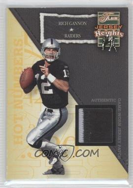 2002 Flair Jersey Heights Jersey Patch [Memorabilia] #N/A - Rich Gannon /100