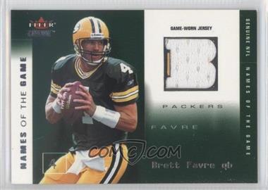 2002 Fleer Genuine - [???] #BF-NG - Brett Favre /500