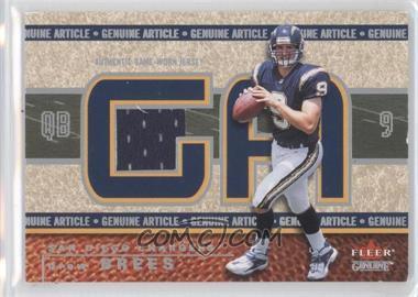 2002 Fleer Genuine - Genuine Article - 500 #GA-DB - Drew Brees /500