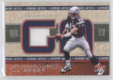 2002 Fleer Genuine - Genuine Article - 500 #GA-TB - Tom Brady /500