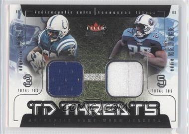 2002 Fleer Genuine - TD Threats - Jerseys [Memorabilia] #EJEG - Edgerrin James, Eddie George