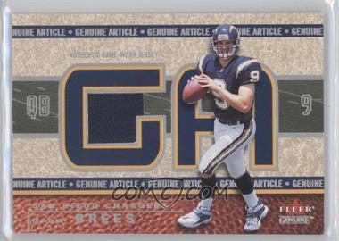 2002 Fleer Genuine [???] #GA-DB - Drew Brees /500