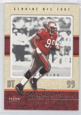 2002 Fleer Genuine Descending #21 - Warren Sapp /105