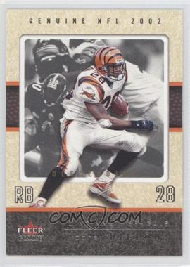 2002 Fleer Genuine Descending #46 - Corey Dillon /80
