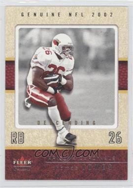 2002 Fleer Genuine Descending #61 - Thomas Jones /65