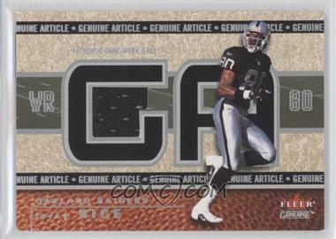 2002 Fleer Genuine Genuine Article 500 #GA-JR - Jerry Rice /500