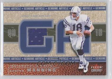 2002 Fleer Genuine Genuine Article #GA-PM - Peyton Manning