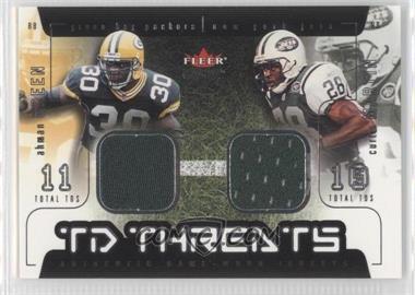 2002 Fleer Genuine TD Threats Jerseys [Memorabilia] #AGCM - Ahman Green, Curtis Martin