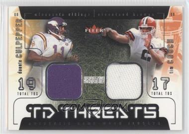 2002 Fleer Genuine TD Threats Jerseys [Memorabilia] #DCTC - Daunte Culpepper, Tim Couch