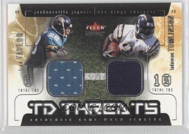 2002 Fleer Genuine TD Threats Jerseys [Memorabilia] #FTLT - Fred Taylor, LaDainian Tomlinson