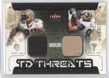 2002 Fleer Genuine TD Threats Jerseys [Memorabilia] #JHTH - Joe Horn, Torry Holt