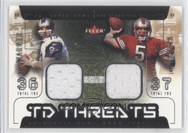 2002 Fleer Genuine TD Threats Jerseys [Memorabilia] #KWJG - Kurt Warner, Jeff Garcia
