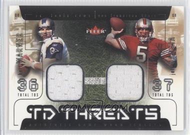 2002 Fleer Genuine TD Threats Jerseys [Memorabilia] #N/A - Kurt Warner, Jeff Garcia