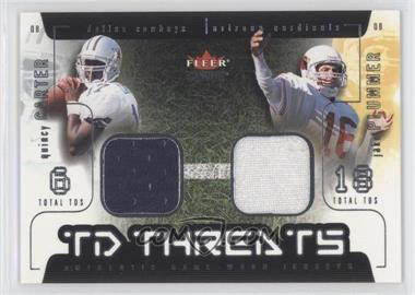 2002 Fleer Genuine TD Threats Jerseys [Memorabilia] #QCJP - Quincy Carter, Jake Plummer