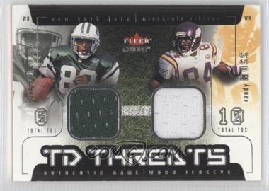 2002 Fleer Genuine TD Threats Jerseys [Memorabilia] #SMRM - Santana Moss, Randy Moss