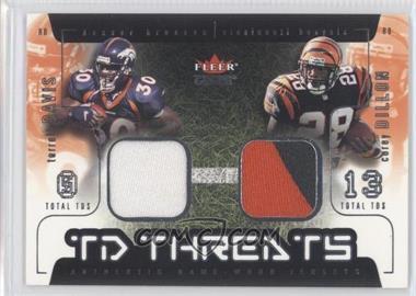 2002 Fleer Genuine TD Threats Jerseys [Memorabilia] #TDCD - Terrell Davis, Corey Dillon