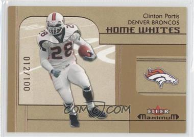 2002 Fleer Maximum [???] #282 - Clinton Portis /100