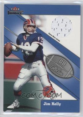 2002 Fleer Throwbacks - QB Collection - Jerseys [Memorabilia] #JIKE - Jim Kelly