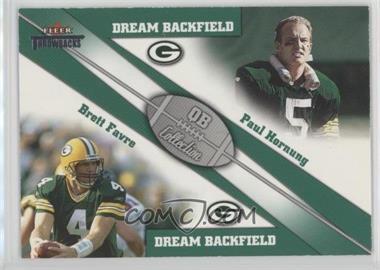 2002 Fleer Throwbacks - QB Collection Dream Backfields #1 DB - Paul Hornung, Brett Favre