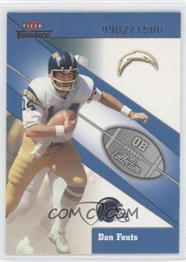 2002 Fleer Throwbacks - QB Collection #10 QB - Dan Fouts /1500