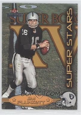 2002 Fleer Throwbacks - Super Stars #4 SS - Jim Plunkett