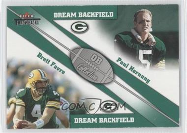 2002 Fleer Throwbacks [???] #1 - Paul Hornung, Brett Favre