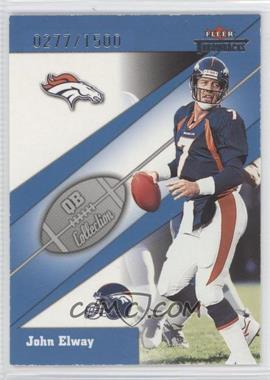 2002 Fleer Throwbacks [???] #11QB - John Elway /1500