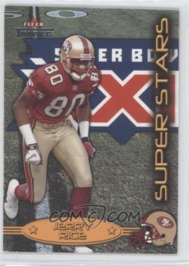 2002 Fleer Throwbacks [???] #1SS - Jerry Rice