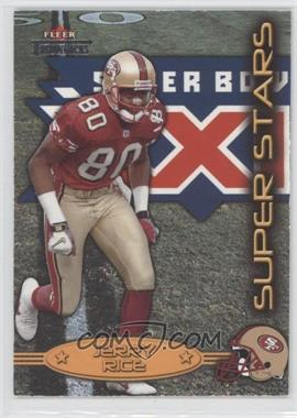 2002 Fleer Throwbacks [???] #1SS - Jerry Rice