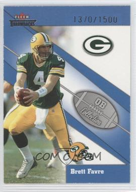 2002 Fleer Throwbacks [???] #7QB - Brett Favre /1500