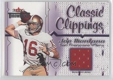 2002 Fleer Throwbacks Classic Clippings #JOMO - Joe Montana