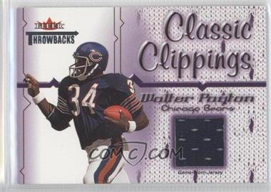 2002 Fleer Throwbacks Classic Clippings #WAPA - Walter Payton