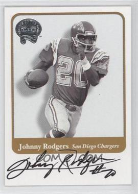 2002 Fleer Throwbacks Greats of the Game Autographs #N/A - Johnny Rodgers