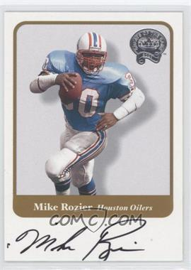 2002 Fleer Throwbacks Greats of the Game Autographs #N/A - Mike Rozier