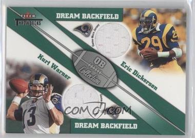 2002 Fleer Throwbacks QB Collection Dream Backfields Dual Jerseys [Memorabilia] #N/A - Kurt Warner, Eric Dickerson