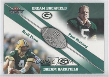 2002 Fleer Throwbacks QB Collection Dream Backfields #1 DB - Paul Hornung, Brett Favre