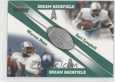 2002 Fleer Throwbacks QB Collection Dream Backfields #2 DB - Warren Moon, Earl Campbell