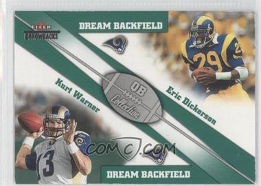 2002 Fleer Throwbacks QB Collection Dream Backfields #3 DB - Eric Dickerson, Kurt Warner